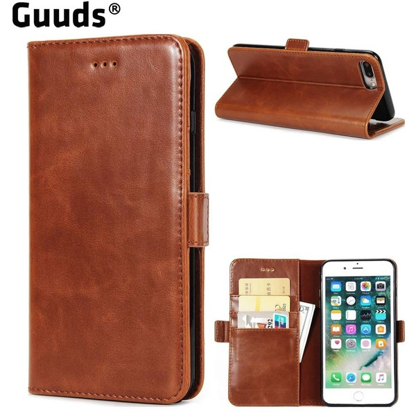 Aliexpress.com : Buy Guuds for iPhone8 7 8Plus 7plus Phone Cover Coque Luxury Crazy Horse PU Leather Wallet Case for iPhone 8 7 Plus 4.7 and 5.5 inch from Reliable Wallet Cases suppliers on World B...