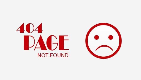 Erreur 404 : Page recherchée non disponible ou déplacée