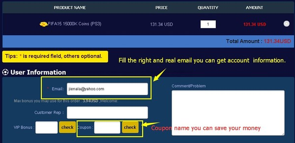 How to Buy FIFA 15 Account with Cheap FUT Coins in Upfifacoins.com?