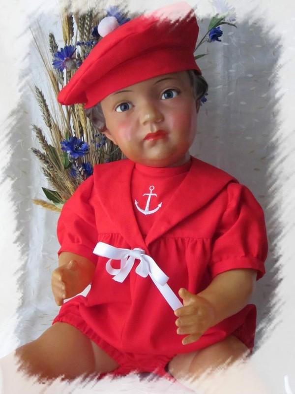 Magnifique barboteuse marin pour poupée ancienne, Baigneur, Bella, Snf, Raynal