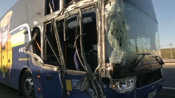 Accident de bus sur l'A1: neuf blessés dont deux graves