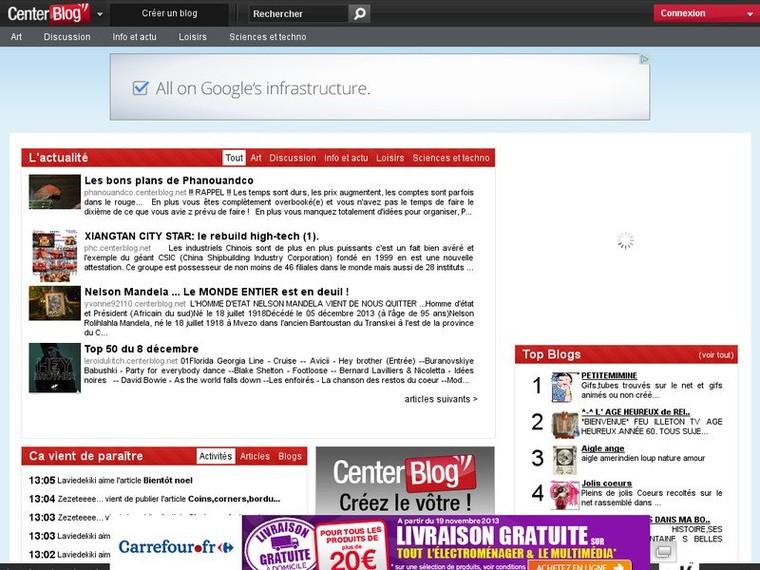 Blog gratuit - Créer un blog g.. Centerblog | Mag90Recherche