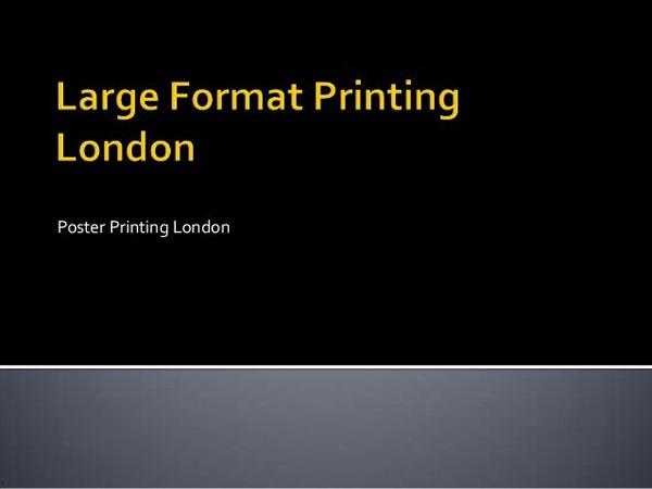 Large Format Printing London
