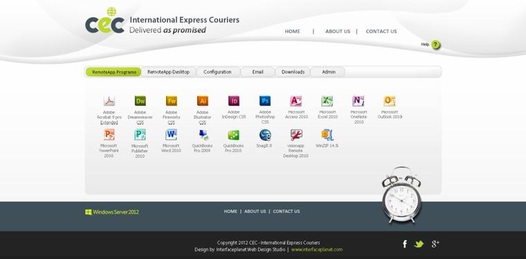 Custom Remote Desktop Web Access 2012 | Interface Planet