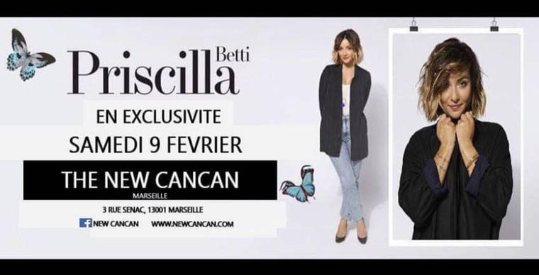 Priscilla Betti au New Cancan - Samedi 9 Février 2019 - Gay-Marseille