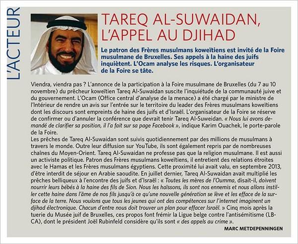 Le prédicateur antisémite koweïtien Tareq Al-Suwaidan, invité d'honneur à la Foire musulmane de Bruxelles - Last night in Orient