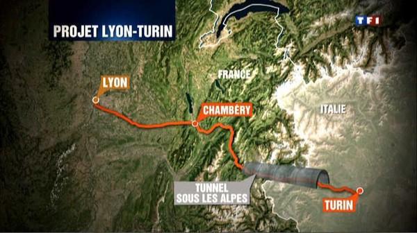 Le journal de 13h - Le TGV Lyon-Turin fait polémique
