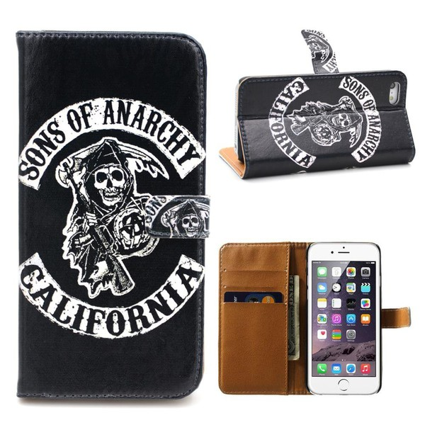 Aliexpress.com : Buy Black Skull Leather Wallet Phone Case for iPhone 7 7plus 6s 6 6splus SE 5c 5s 5 4s 4 FREE SHIPPING from Reliable case for iphone suppliers on GUUDS Official Store