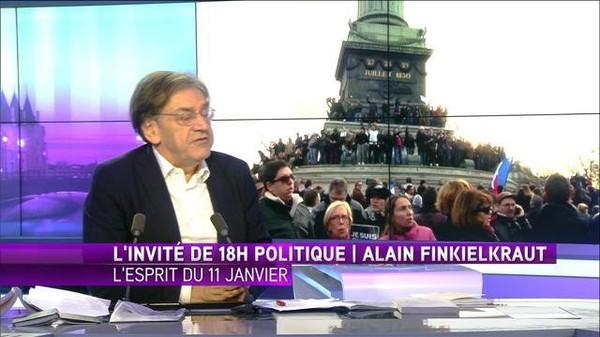 """Finkielkraut : """"la France black-blanc-beur n'était pas là"""" le 11 janvier"""