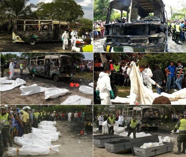 La Colombie sous le choc après l'explosion et l'incendie d'un autobus rempli d'enfants à Fundacion - 27avril.com | Actualité au Togo, Afrique et Monde