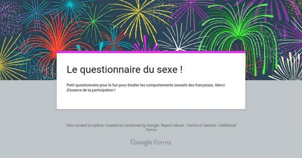 Le questionnaire du sexe !