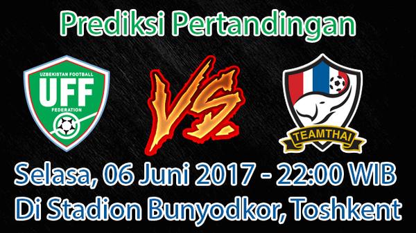 Prediksi Uzbekistan vs Thailand 6 Juni 2017 – Cari Agen Bola