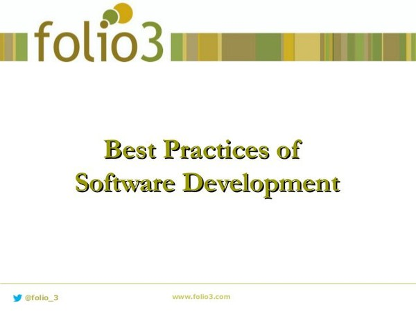 Agenda - Naming/Coding Standard - Good Programming Practices - Good Database Practices http://www.folio3.com/expertise/software-testing-qa/