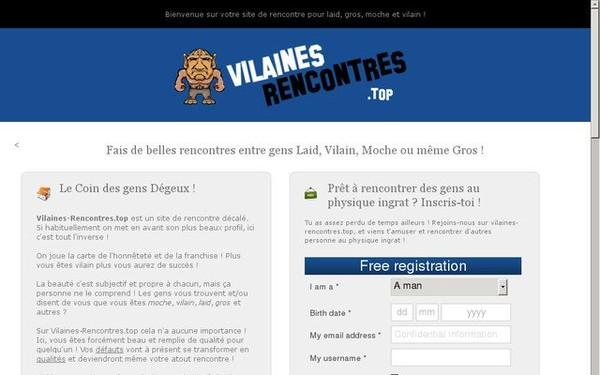 Site de Rencontres Moches, Vilains, Laids et Gros