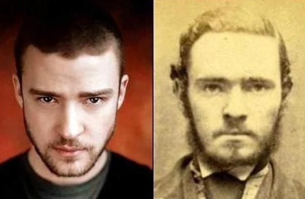 24 celebrities and their incredible look alikes from the past