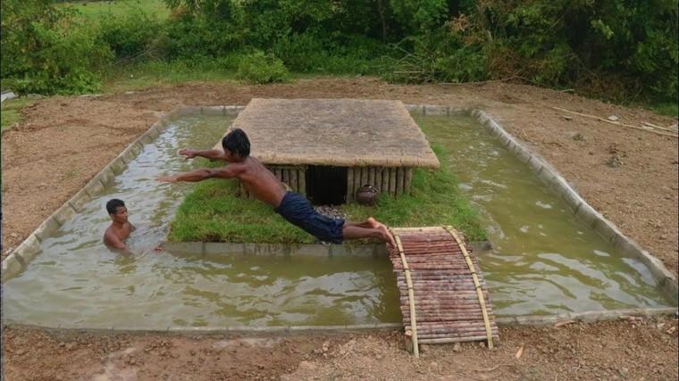 Des techniques primitives pour construire une piscine