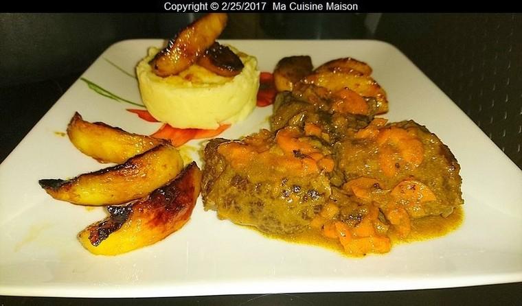 NOIX DE JOUE DE BOEUF AU CIDRE ET POMMES RÖTIES - Ma Cuisine Maison