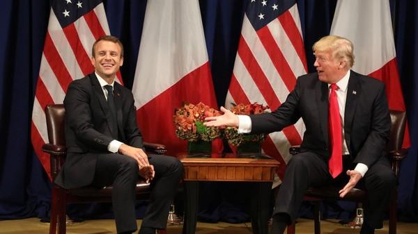 A New York, Trump estime que Macron «fait un boulot d'enfer» et est «respecté par le peuple»