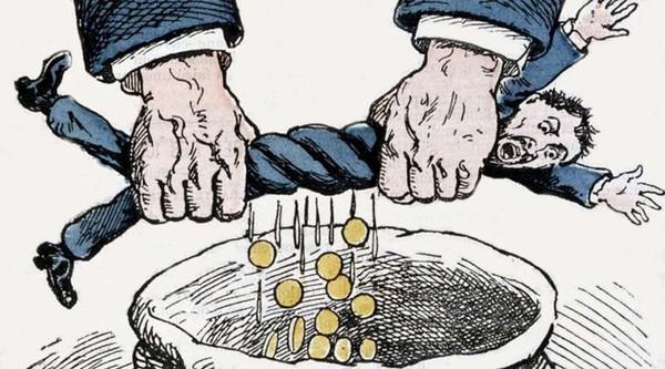 L'impôt sert à extraire de l'argent qui ira aux riches