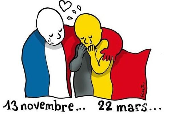 Attentats à Bruxelles: l'hommage des dessinateurs