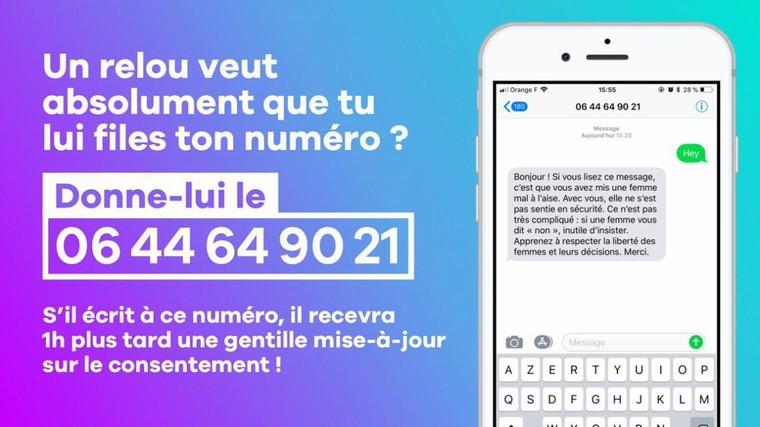 """0644649021, voici le numéro de téléphone pour """"se débarrasser des mecs insistants"""""""