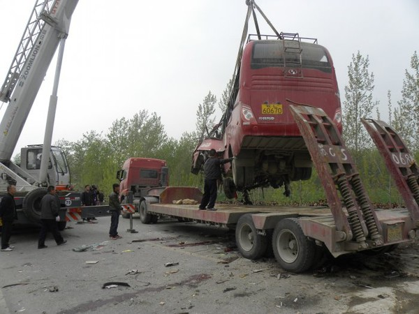 Photos Chine : le bilan des morts à la suite d'un accident de la route dans l'Anhui s'alourdit à 24