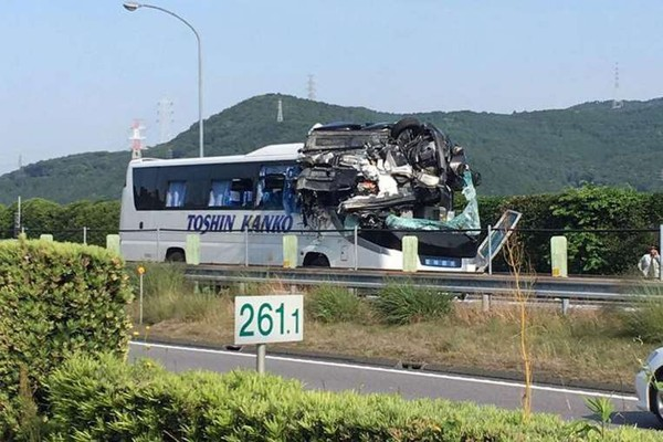 Dramatic Japan highway accident kills driver, injures 45