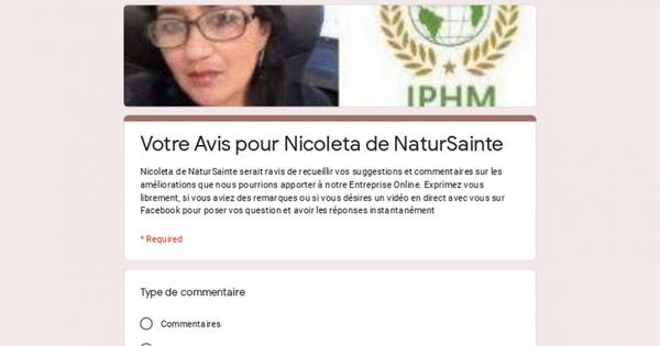 Votre Avis pour Nicoleta de NaturSainte
