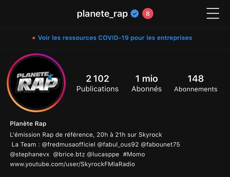 """Planète Rap on Instagram: """"1 MILLION... 🔥👏🏼👏🏼😘😘😘"""""""