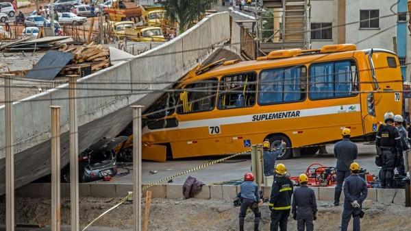 Brésil: une bretelle d'autoroute s'effondre, deux morts et 19 blessés - RTBF Monde