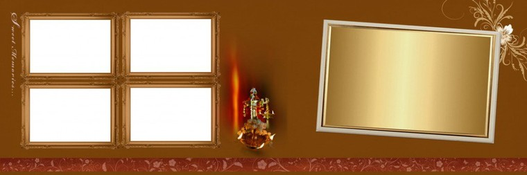 Golden Krishna Wedding PSD Background Free Download