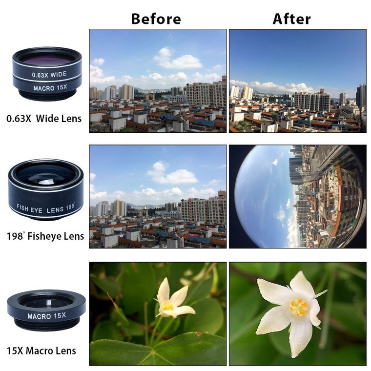 Best Universal 5 in 1 Camera Lens Kit For iPhone and Other Smartphones