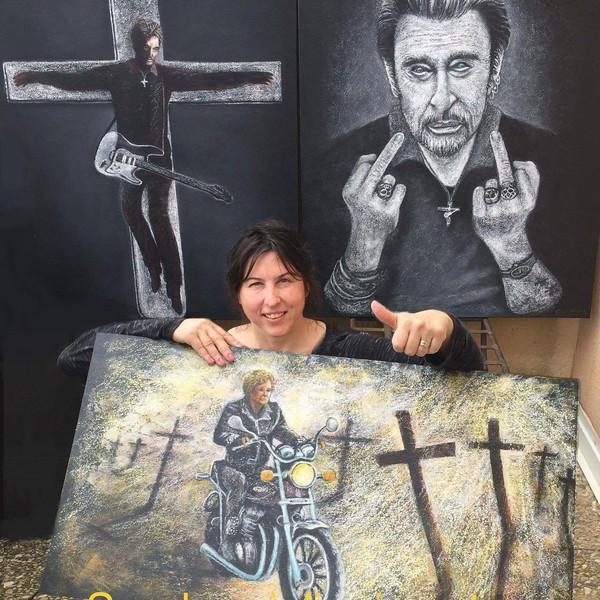 """🎨 🇫🇷 Peintre Auteur on Instagram: """"#artist #art #artiste #artistepeintre #peinture #peint #johnnyhallyday #johnnyhallydayforever #france🇫🇷 #montpellier #languedocroussillon…"""""""