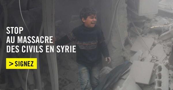 Stop au massacre des civils en Syrie