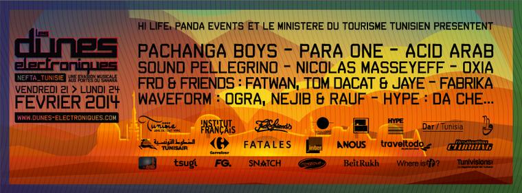 Festival Les Dunes Electroniques: 3 jours dans le désert tunisien le 21, 22 et 23 février 2014