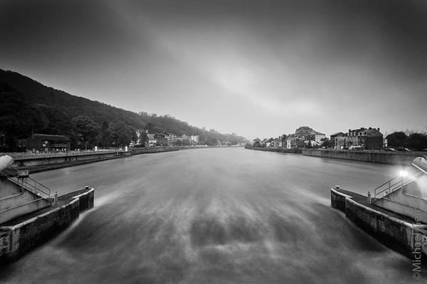 La Meuse namuroise depuis le barrage de La Plante, par