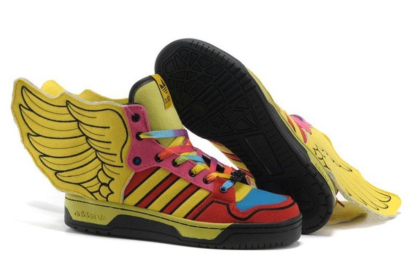 check out cfd37 9877b 2013 New Jeremy Scott Wings 2.0 Womens Adidas Originals Shoes Yellow Red  Blue
