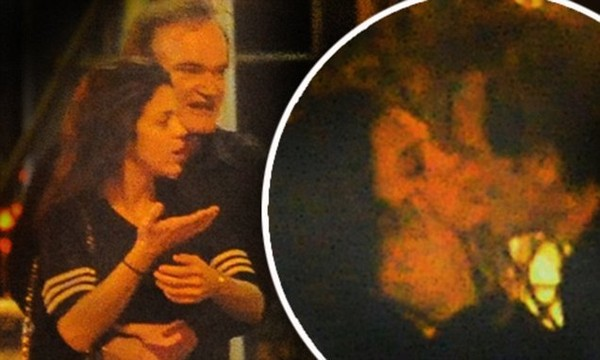 Where's Uma? Quentin Tarantino caught kissing actress Vanessa Ferlito