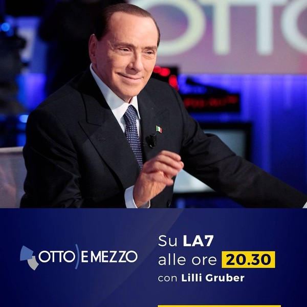 """Silvio Berlusconi on Instagram: """"Questa sera sarò ospite di Lilli Gruber a Otto e mezzo. #ForzaItalia #elezioni2018"""""""