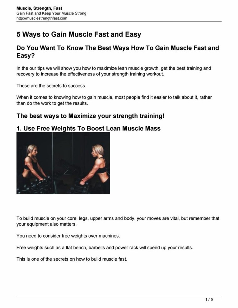 5 ways to gain muscle fast and easy