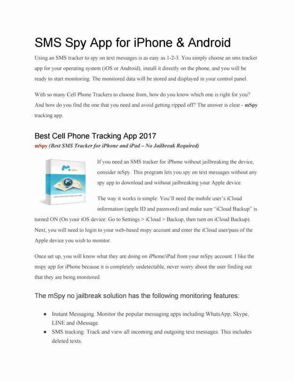 Sms spy app for iphone & android