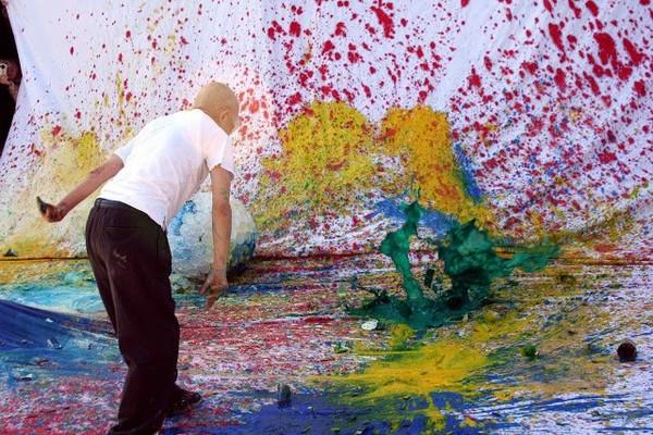 Exposition Art Blog: Shozo Shimamoto - Gutai Group - Japanese Avant-Garde Art