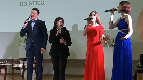 Мирей Матье встретилась со студентами института имени Пушкина