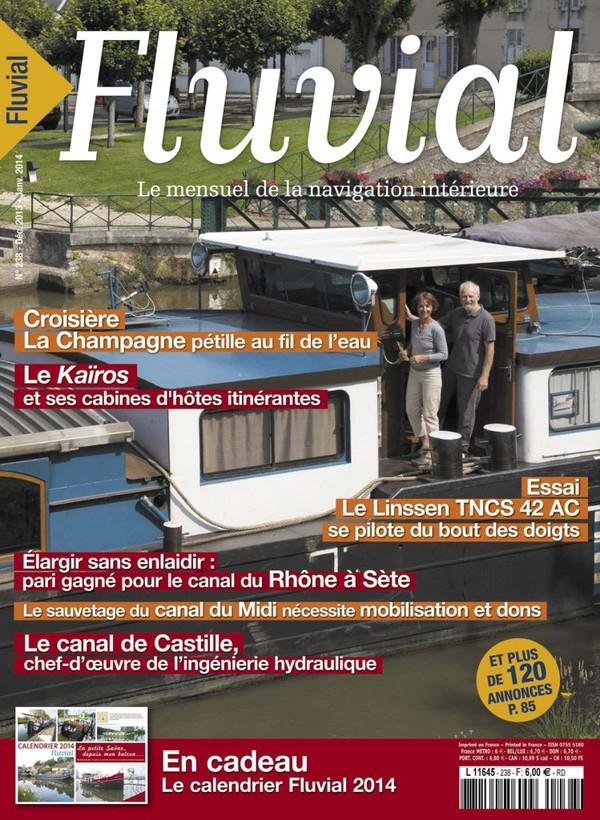 Revue Fluvial vient de paraître Fluvial 238 - Le numéro double de Noël est en kiosque