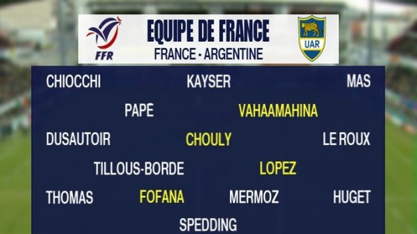 Cinq joueurs de l'ASM titulaires face à l'Argentine samedi – ASM Clermont Auvergne - France 3 Auvergne