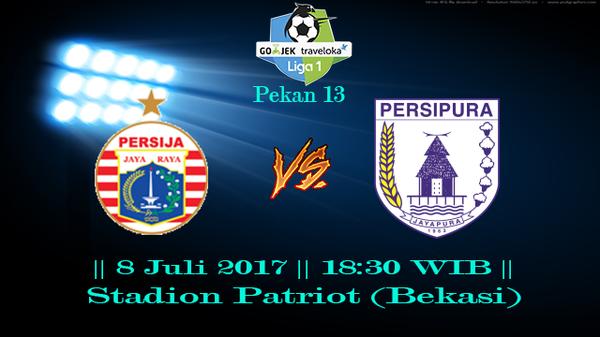 Prediksi Persija vs Persipura 8 July 2017 Liga 1 Gojek Indonesia