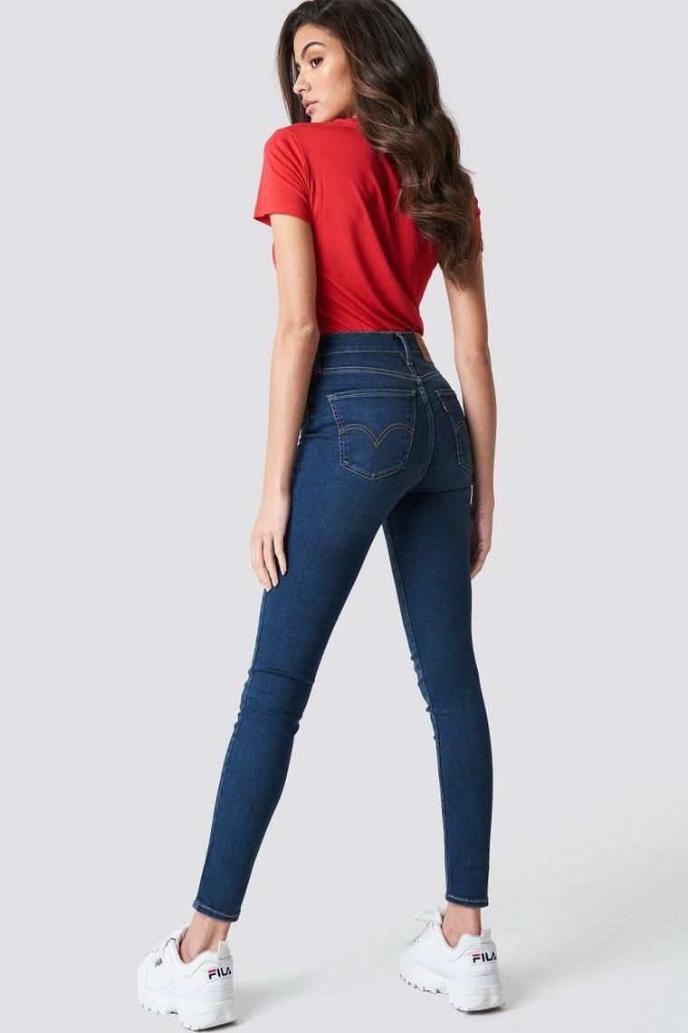 Mile High Super Skinny Percée Blue Levi's NA-KD - Jeans Femme NA-KD - Iziva.com