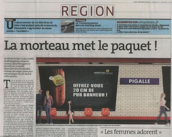 «Offrez-vous 20 cm de pur bonheur» La saucisse de Morteau s'affiche dans le métro