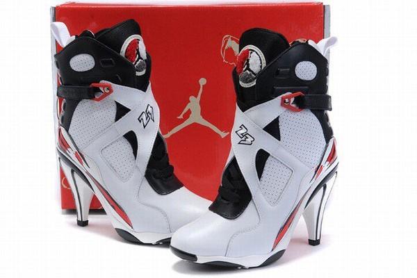 best cheap 3ce9c cc3f0 Nike Air Jordan 8 Heels White Black Red discount on sale Air jordan high  heels at amazingly low prices