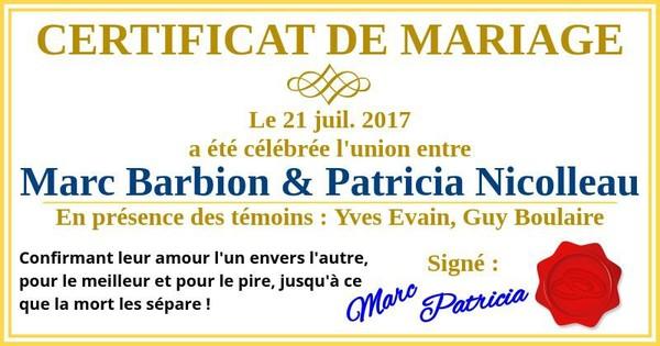 Tu vas te marier en 2017 ! Laisse-nous te montrer ton certificat de mariage !